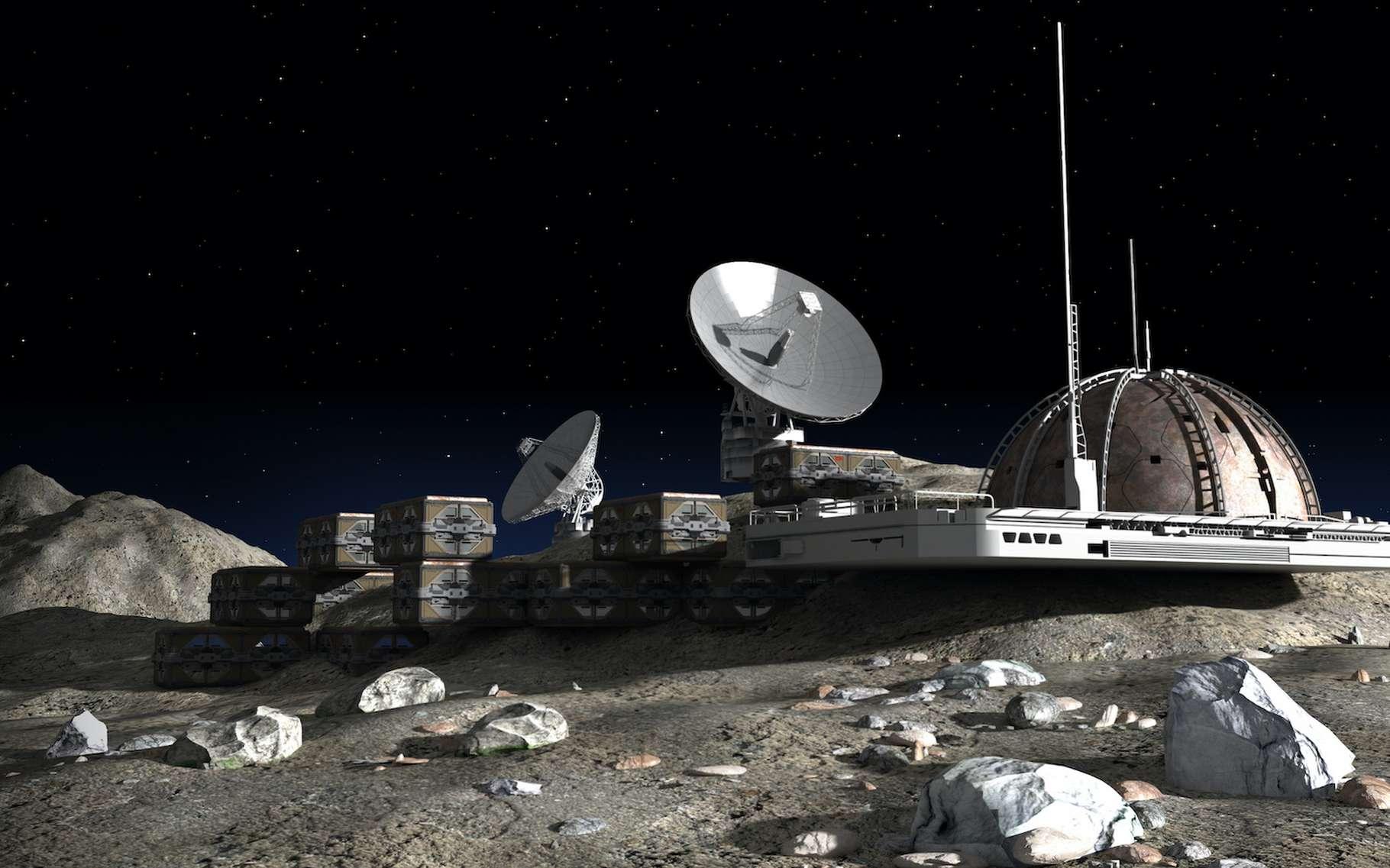 La construction des futures bases lunaires reposera-t-elle sur l'urine des astronautes ? C'est ce qu'imaginent des chercheurs. © 3000ad, Adobe Stock