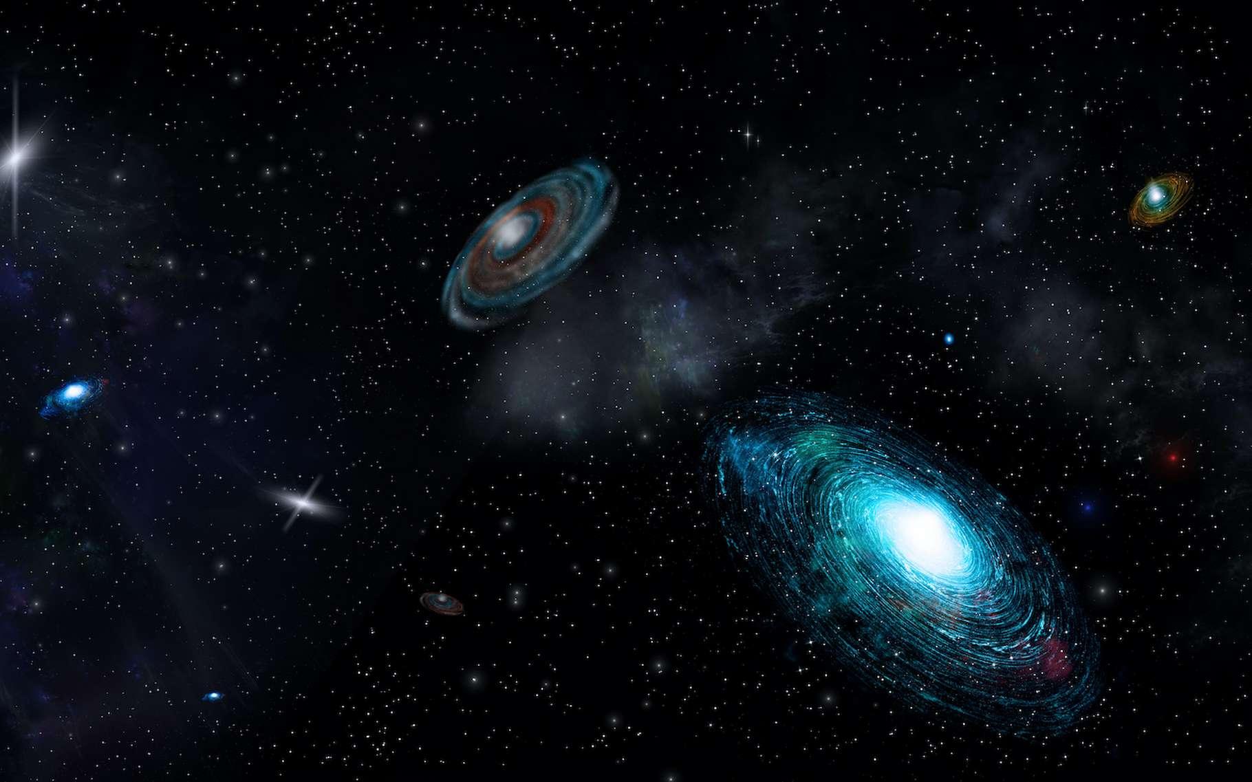 Dans notre Univers, les objets rivalisent pour remporter le titre d'objet le plus grand. © alex_aldo, Adobe Stock