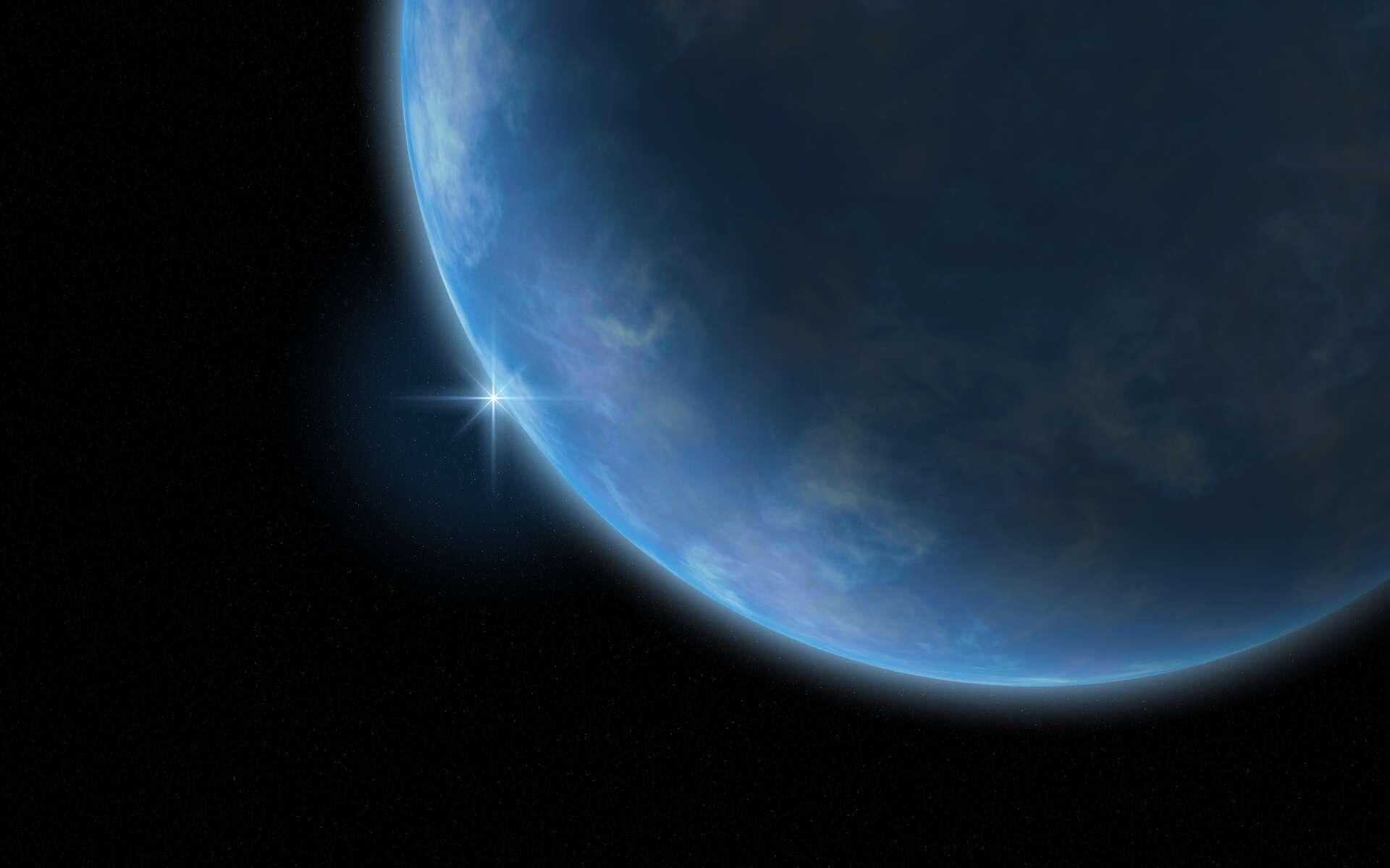 Une vue d'artiste d'une planète océan. © www.clevelandwebs.com-samuel tucker
