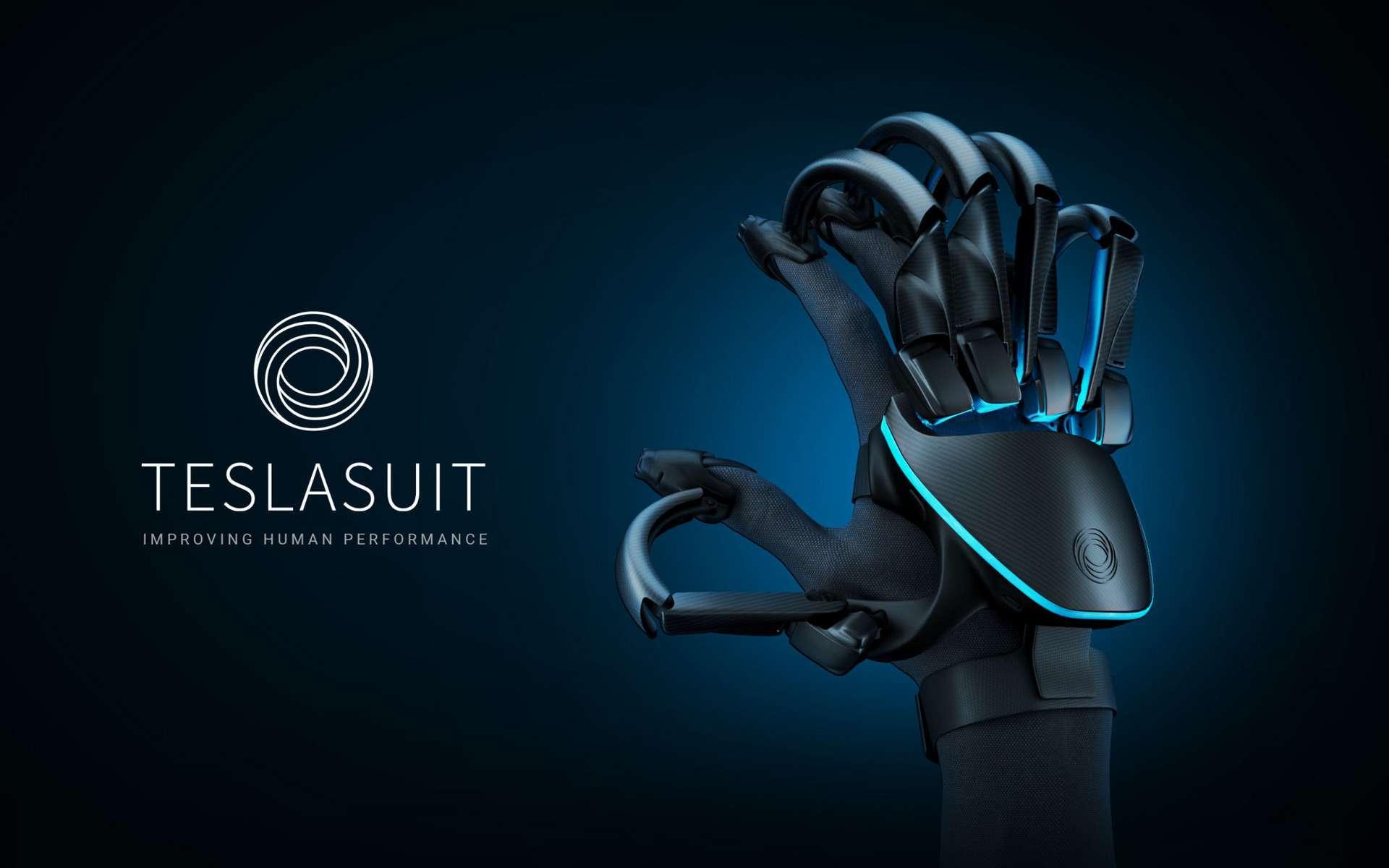 Parcouru d'un réseau d'électrodes, le gant permet d'avoir la sensation de tenir des objets mais... ce ne sera pas encore pour les joueurs. © Teslasuit