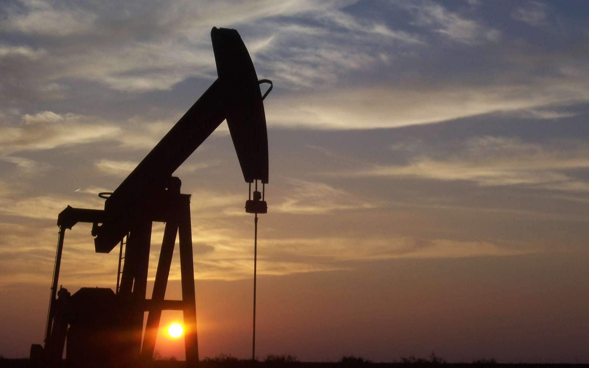 La recherche de nappes de pétrole souterraines se fait par sismicité ou par l'étude des anomalies gravimétriques du sol par satellite. Toutefois, seule la prospection par forage est en mesure de certifier la présence de pétrole. © Eric Kounce, Wikipédia, DP