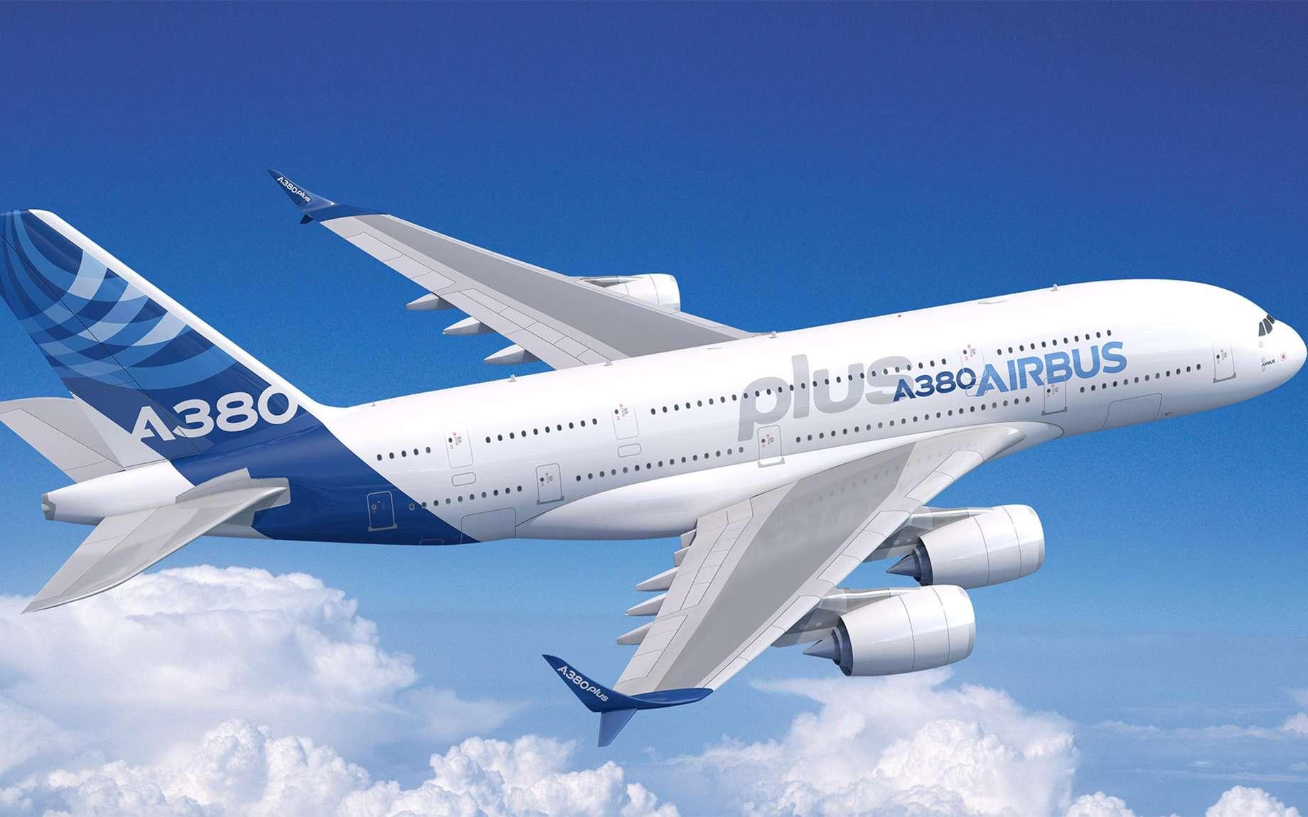 Vu d'artiste d'un A380plus. Cet avion pourrait voler dès 2020. © Airbus SAS 2017