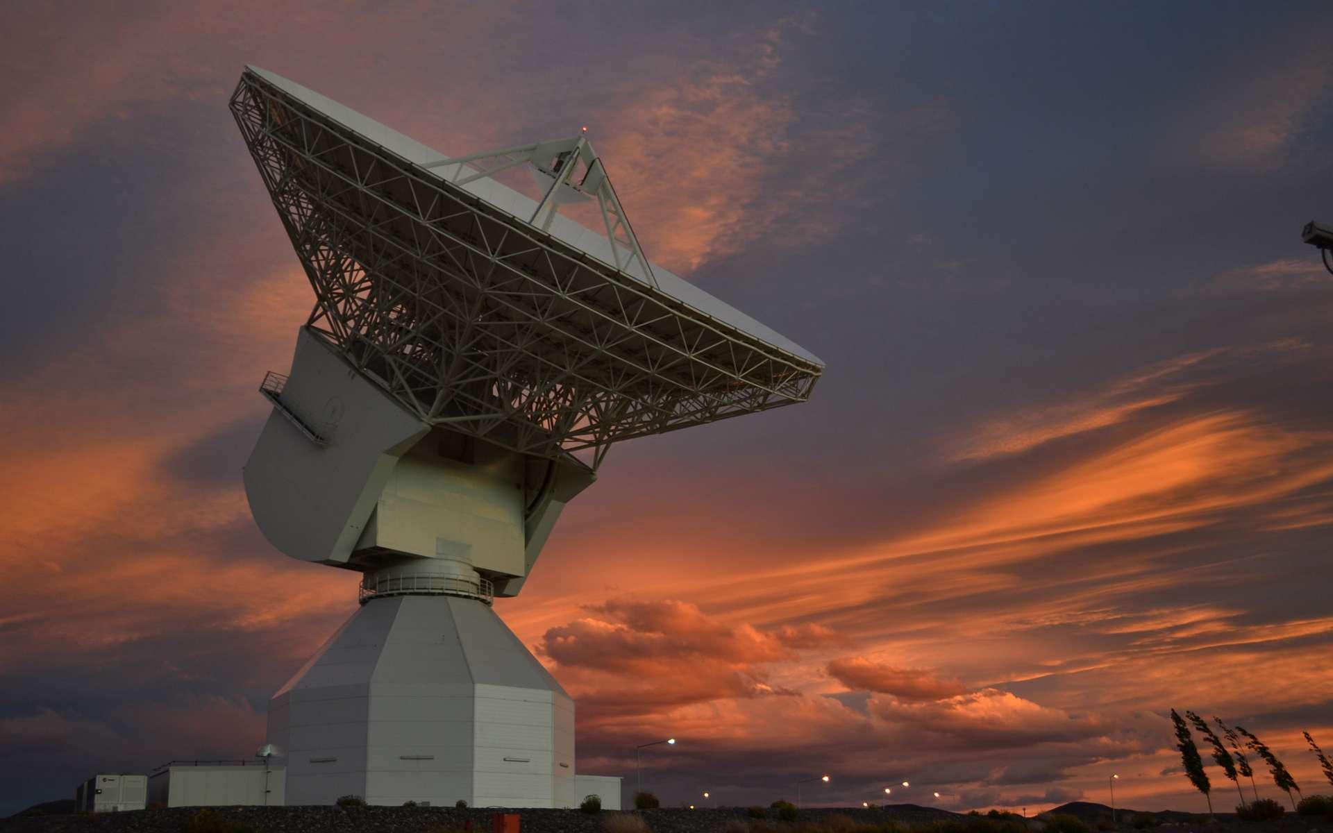 L'antenne de 35 mètres de diamètre de la station sol de Malargüe en Argentine. Avec celles de Cebreros en Espagne et celle de New Norcia en Australie, elle forme le réseau d'antennes pour l'espace lointain (DSA) de l'Agence spatiale européenne. © Esa, D. Pazos