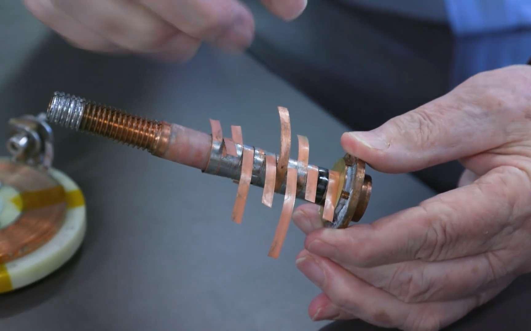 L'aimant hybride 45,5-T a généré un champ magnétique record de 45,5 teslas. © Université de Floride
