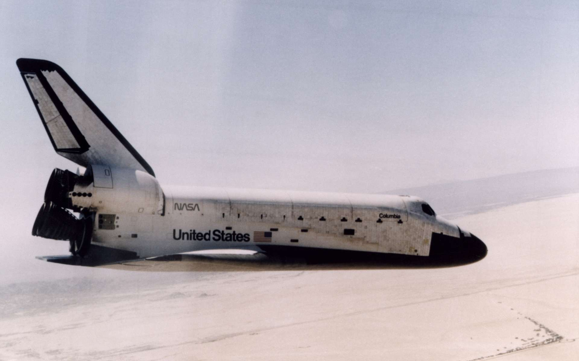 Les 40 ans du premier vol de la navette spatiale américaine. © Nasa