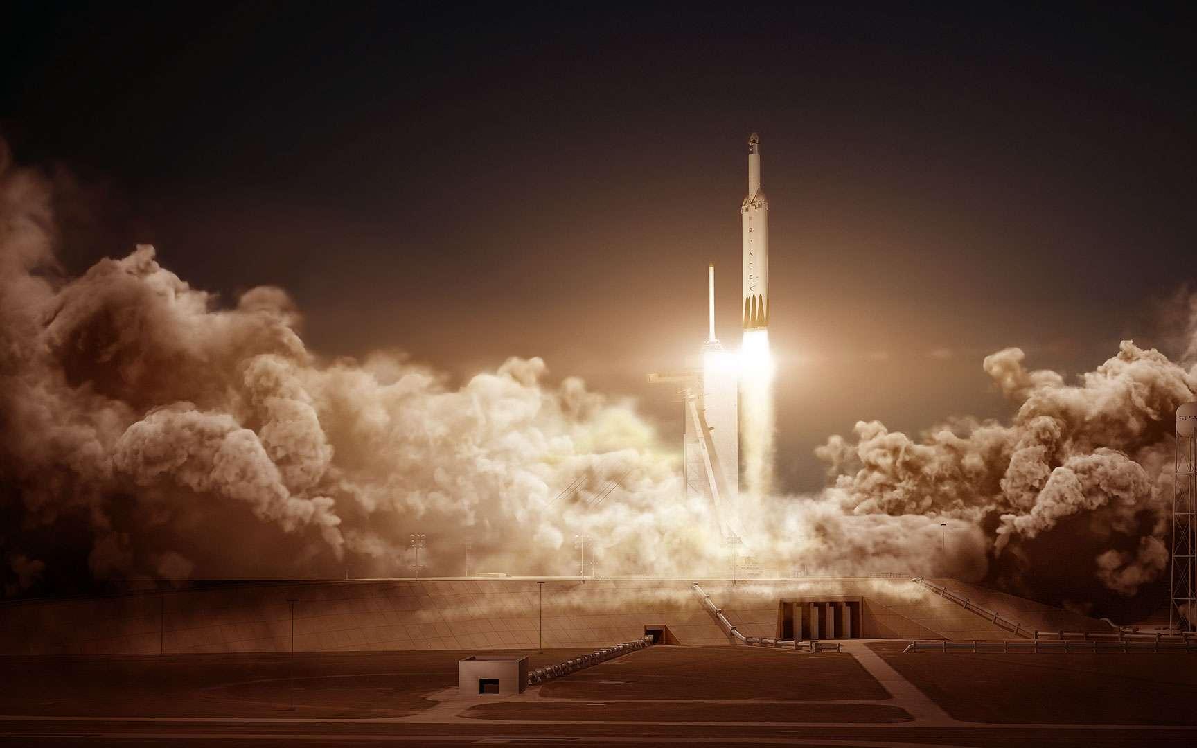 Delta IV Heavy. Décembre 2004, transfert de la Delta IV Heavy sur son pas de tir pour son premier tir de démonstration.