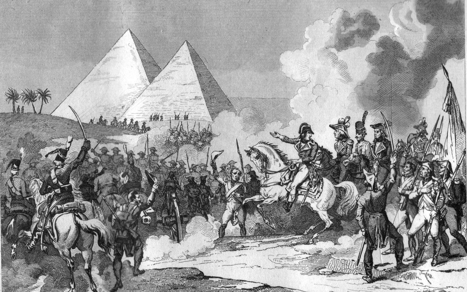 La bataille des Pyramides a été la plus grande victoire de Napoléon Bonaparte lors de la campagne d'Égypte. ©Wikimedia Commons, DP