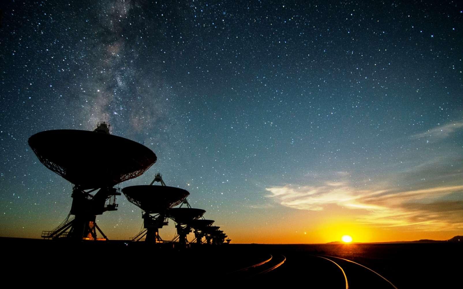Les antennes du VLA au Nouveau-Mexique. L'observatoire collabore avec le programme Breakthrough Listen et Seti. © NRAO/AUI/NSF; J. Hellerman