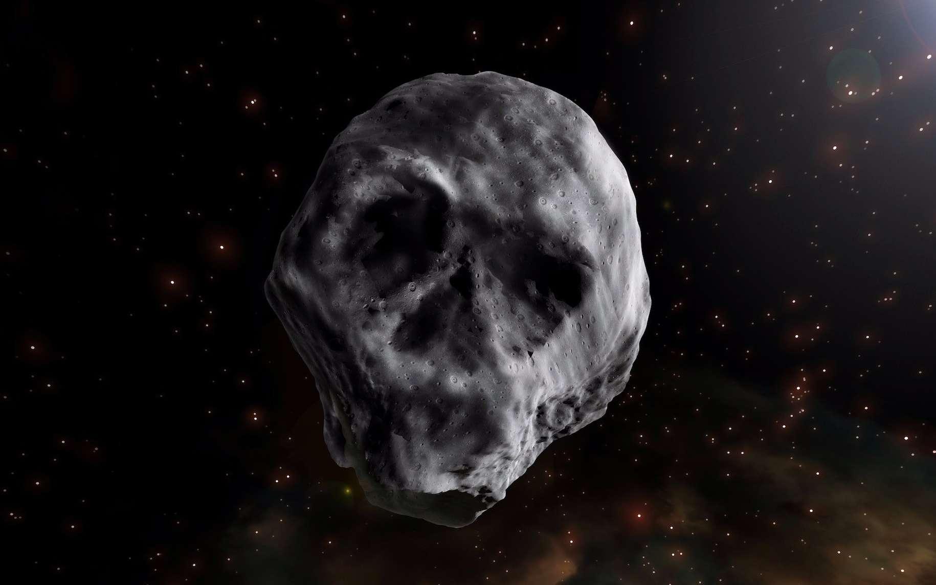 Illustration de 2015 TB145, l'astéroïde tête de mort. © José Antonio Peñas, SINC