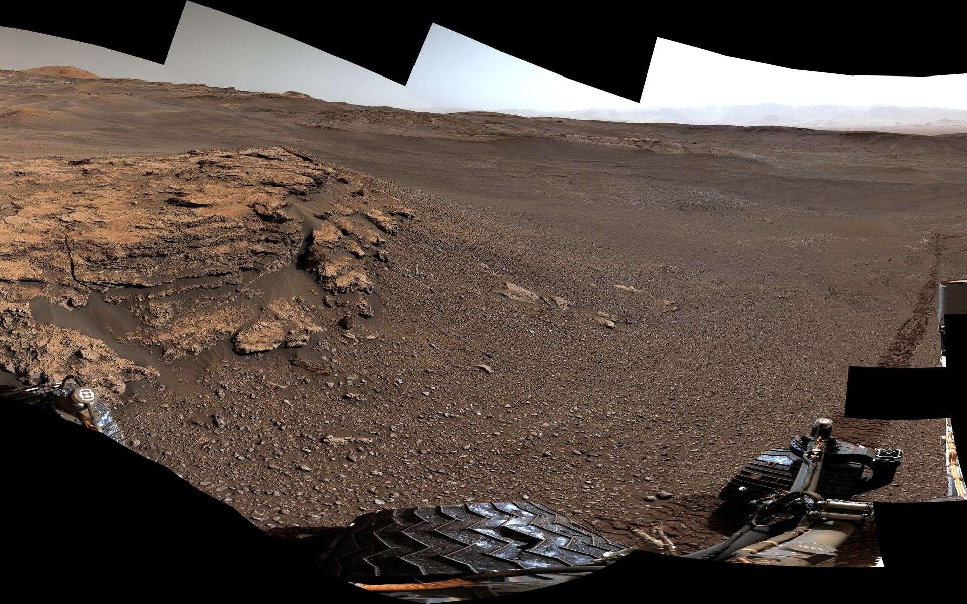 Image extraite de la vidéo 360 que la Nasa vient de dévoiler pour les sept ans de Curiosity sur Mars. © Nasa, JPL-Caltech, MSSS