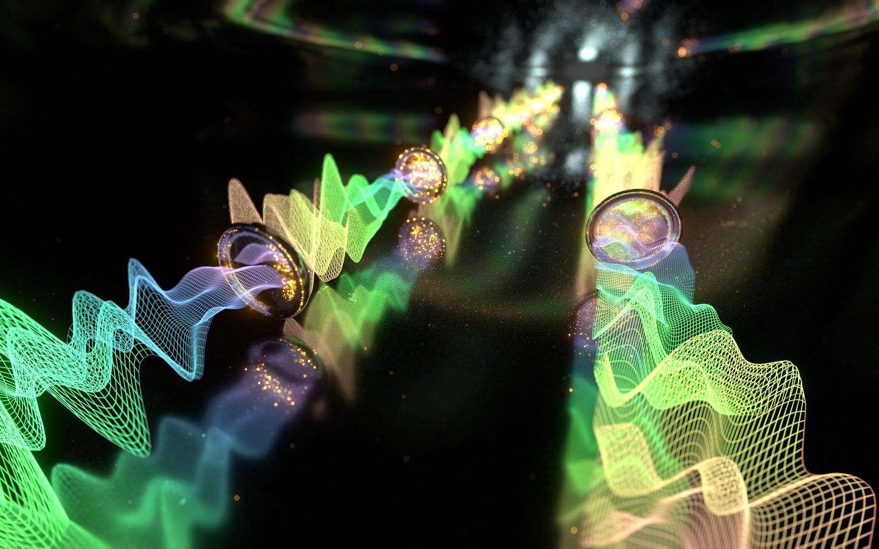 Des haut-parleurs comme relais acoustiques microscopiques pour entretenir les ondes sonores au cœur des matériaux. © Jamani Caillet, EPFL
