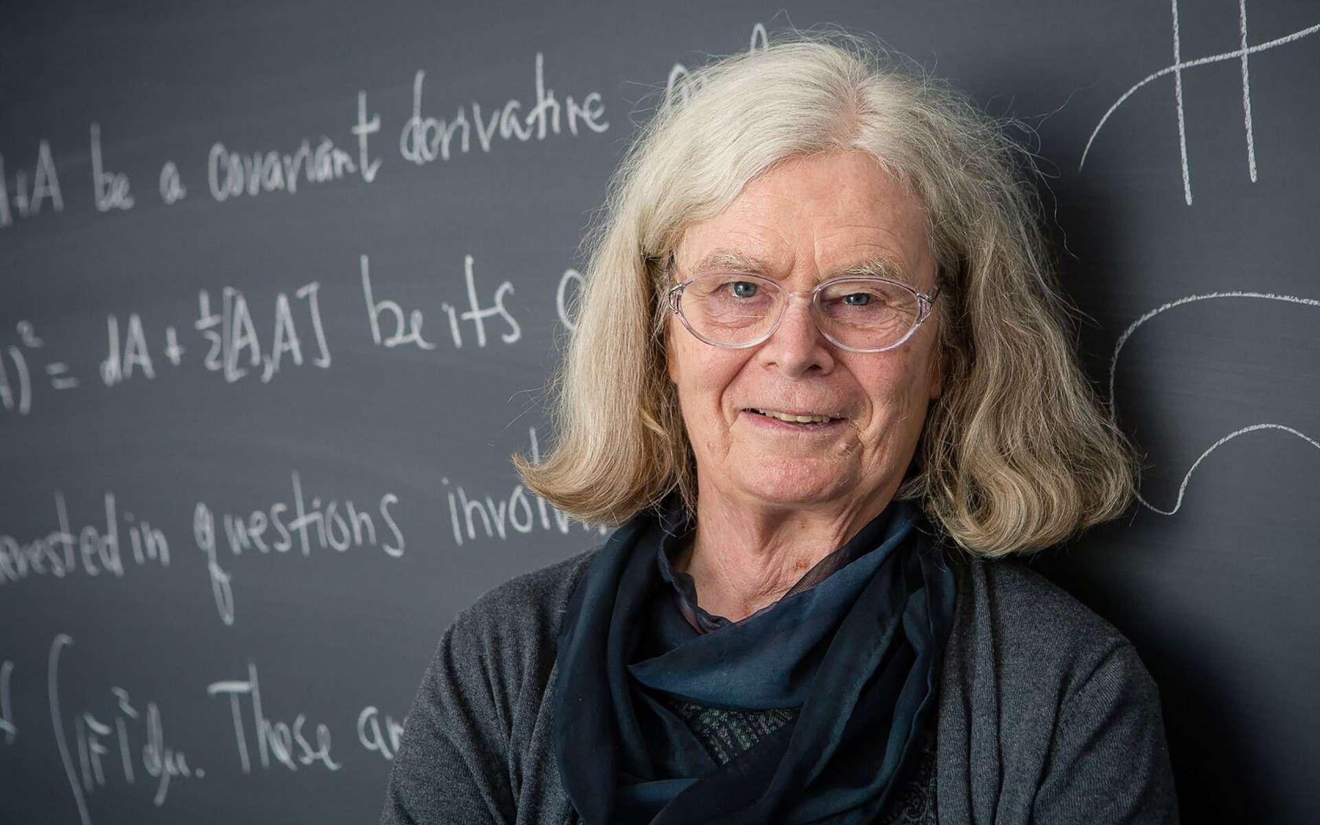 Karen Keskulla Uhlenbeck, lauréate du prix Abel de mathématiques, le 18 mars 2019 à Princeton, New Jersey. © Andrea Kane, Norwegian Academy of Science and Letters, AFP