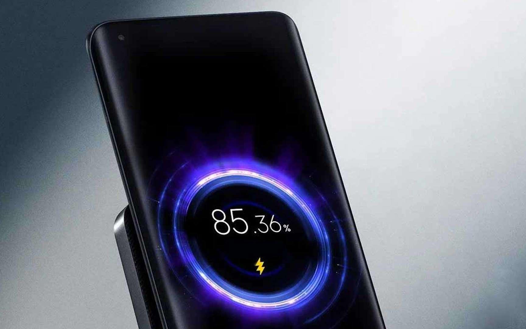 Environ 20 minutes pour recharger un smartphone à 100 %. Sans fil. © Xiaomi