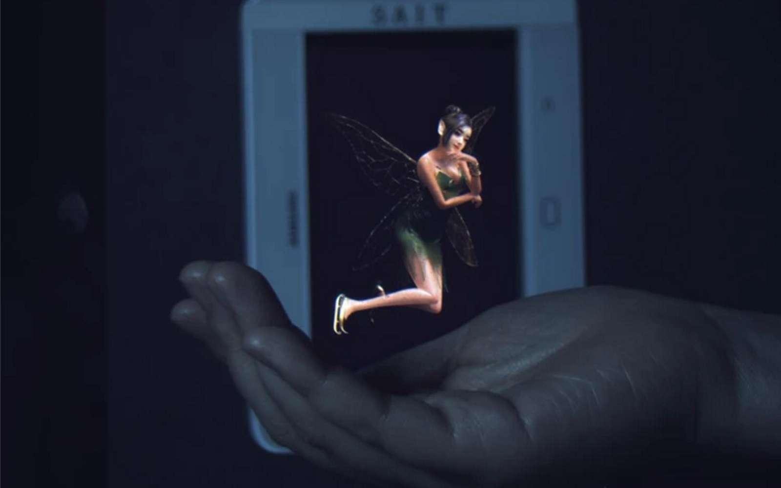 Des chercheurs de chez Samsung sont parvenus à créer un affichage holographique d'une épaisseur d'un centimètre. © Samsung