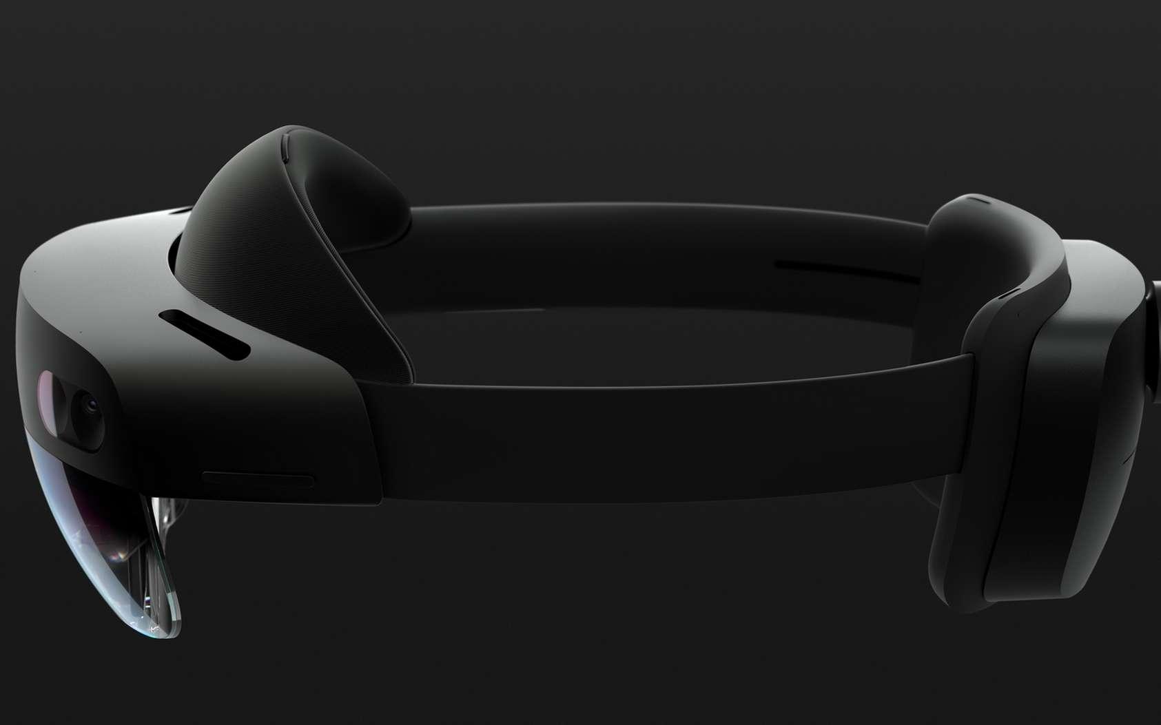 La nouvelle version du casque virtuel de Microsoft devrait proposer un champ de vision élargi. © Microsoft