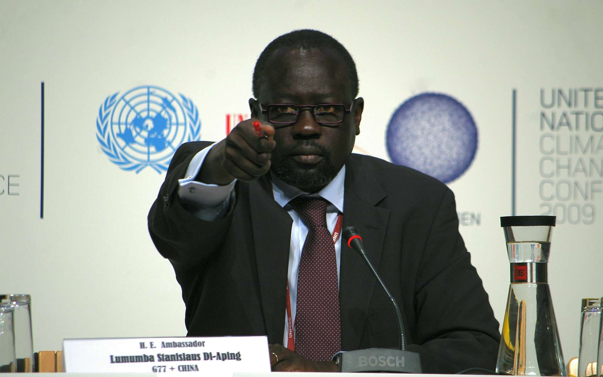 Stanislaus-Kaw Di-Aping, ambassadeur du Soudan aux Nations Unies. © Delphine Rigaud/Durable.com