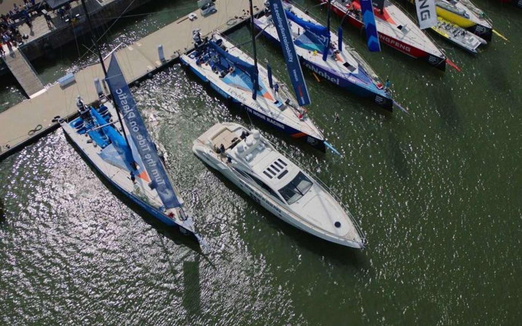 Le système d'amarrage automatique de Volvo utilise des capteurs situés à la fois sur le bateau et à terre. © Volvo Penta