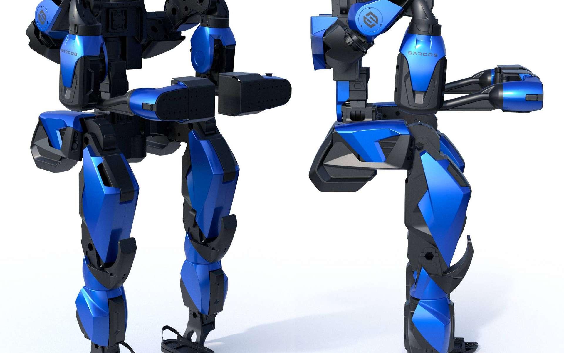 Grâce à l'exosquelette, le poids d'un objet est divisé par 20. © Sarcos