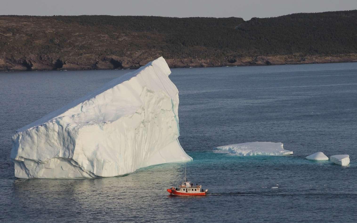 Les icebergs, comme les glaçons, flottent sur l'eau. © kjpoleary, Pixabay, DP