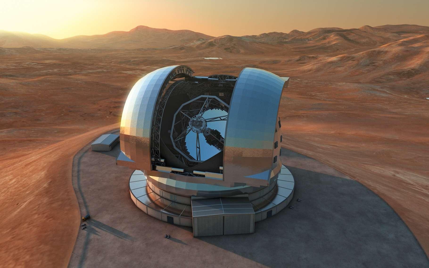 Aujourd'hui, les astronomes butent sur le premier milliard d'années après le Big Bang. Avec l'E-ELT, son miroir primaire de 39 mètres et ses instruments, dont le spectrographe multi-objets Mosaic, ce télescope géant sera capable d'observer et d'étudier des objets formés entre 100.000 et 400.000 années après le Big Bang. © Eso
