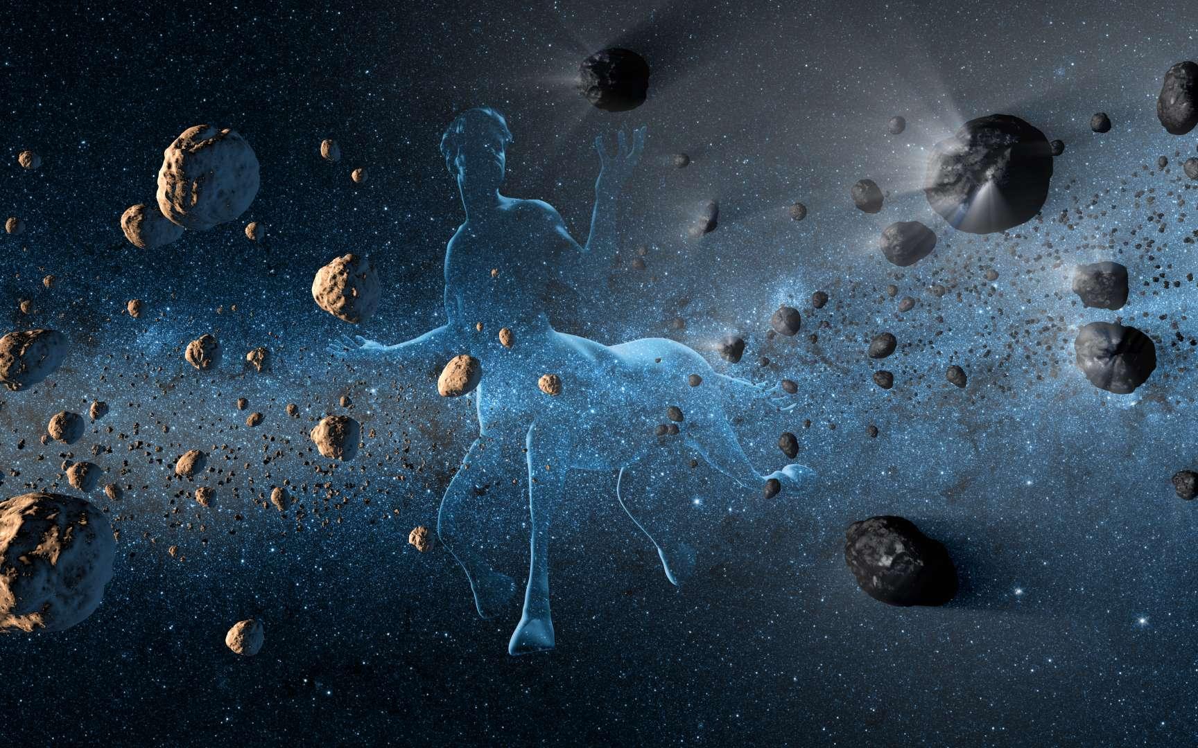 Les astéroïdes de la famille des Centaures sont sur des orbites rétrogrades et instables. 2015 BZ509 est aussi sur une orbite rétrograde, mais il semble particulier, ce qui interroge sur son origine. © Nasa