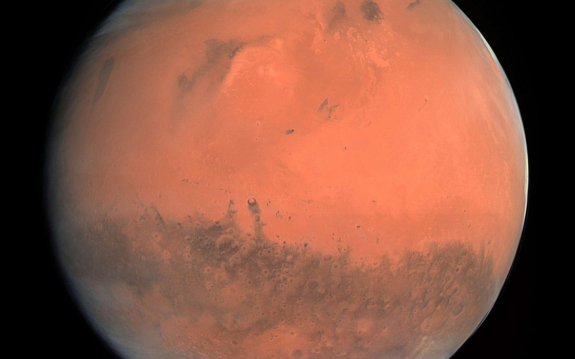 Mars vue par la sonde Rosetta. Crédits : Esa