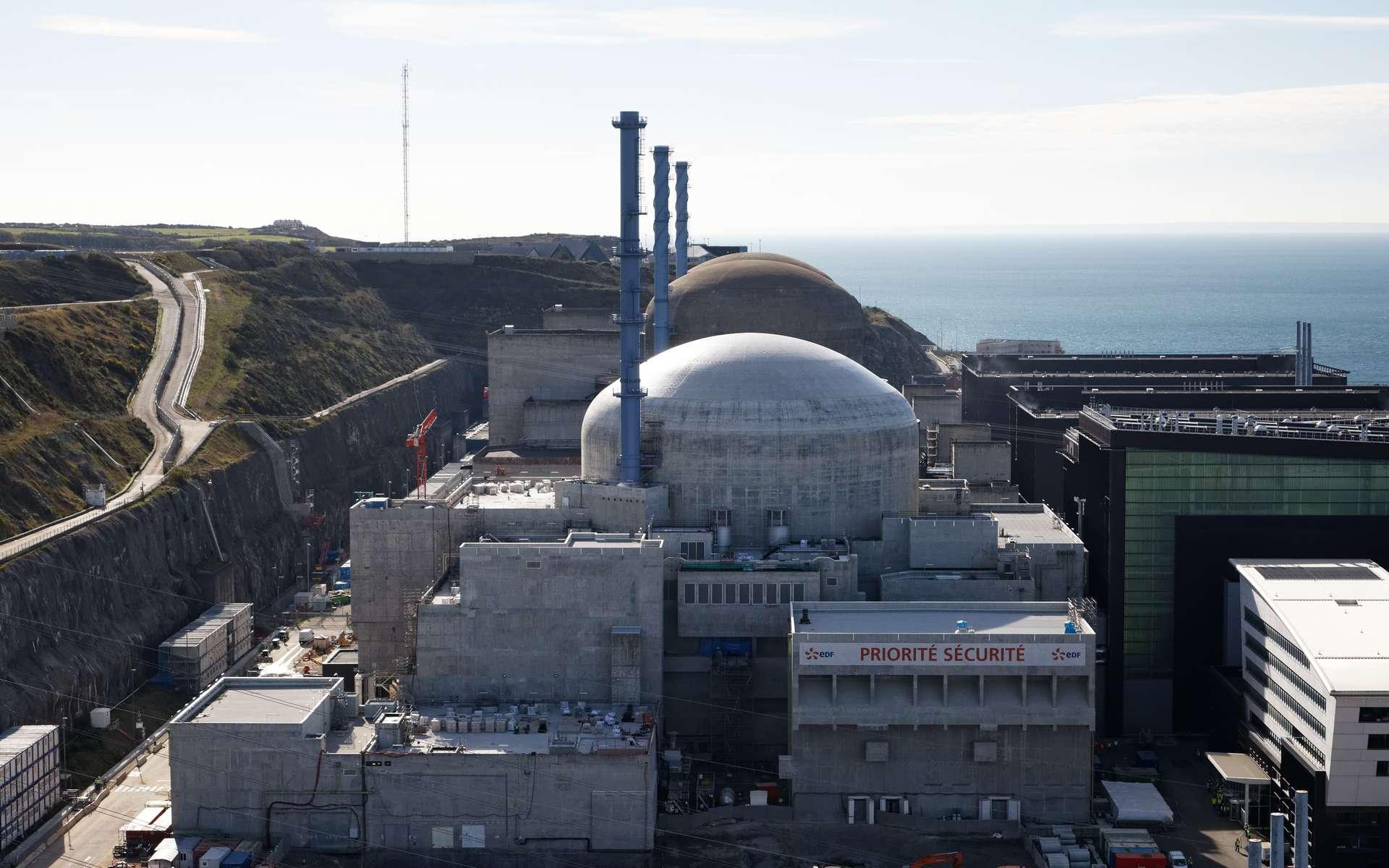 L'unité EPR de la centrale nucléaire de Flamanville (Manche). © EDF