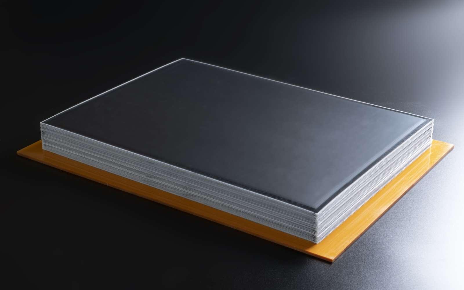 L'architecture de la batterie APB repose sur une accumulation de couches de résine. Un procédé qui vient considérablement réduire les coûts de production. © APB Corp
