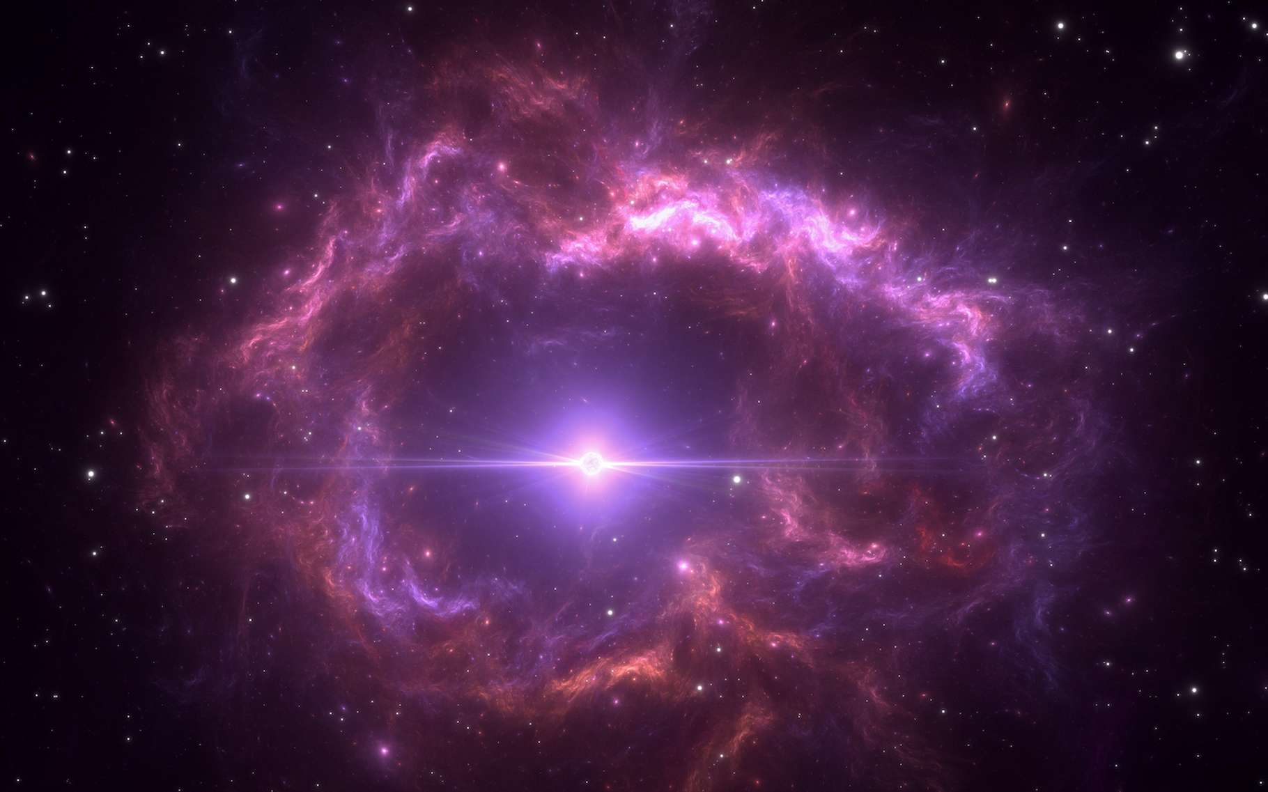 Lorsqu'elles s'éteignent, les naines blanches projettent dans l'univers, du carbone synthétisé en leur cœur. C'est la conclusion d'une étude menée par des chercheurs de l'université de Californie à Santa Cruz (États-Unis) sur des amas d'étoiles ouverts anciens. © Peter Jurik, Adobe Stock