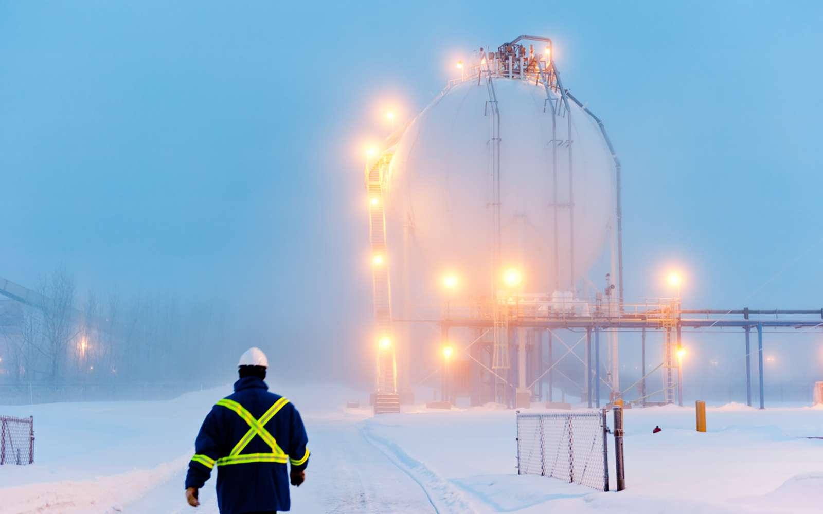 Le site de Bécancour accueille désormais le plus grand site de production d'hydrogène vert au monde. © Air Liquide