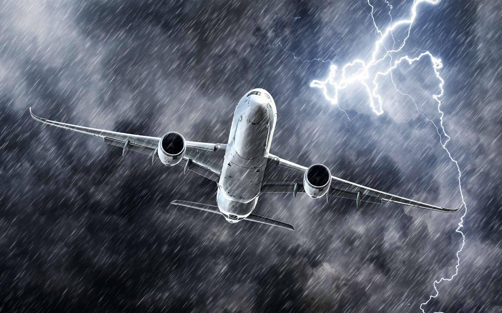 Les avions sont régulièrement frappés par la foudre. © aapsky, fotolia
