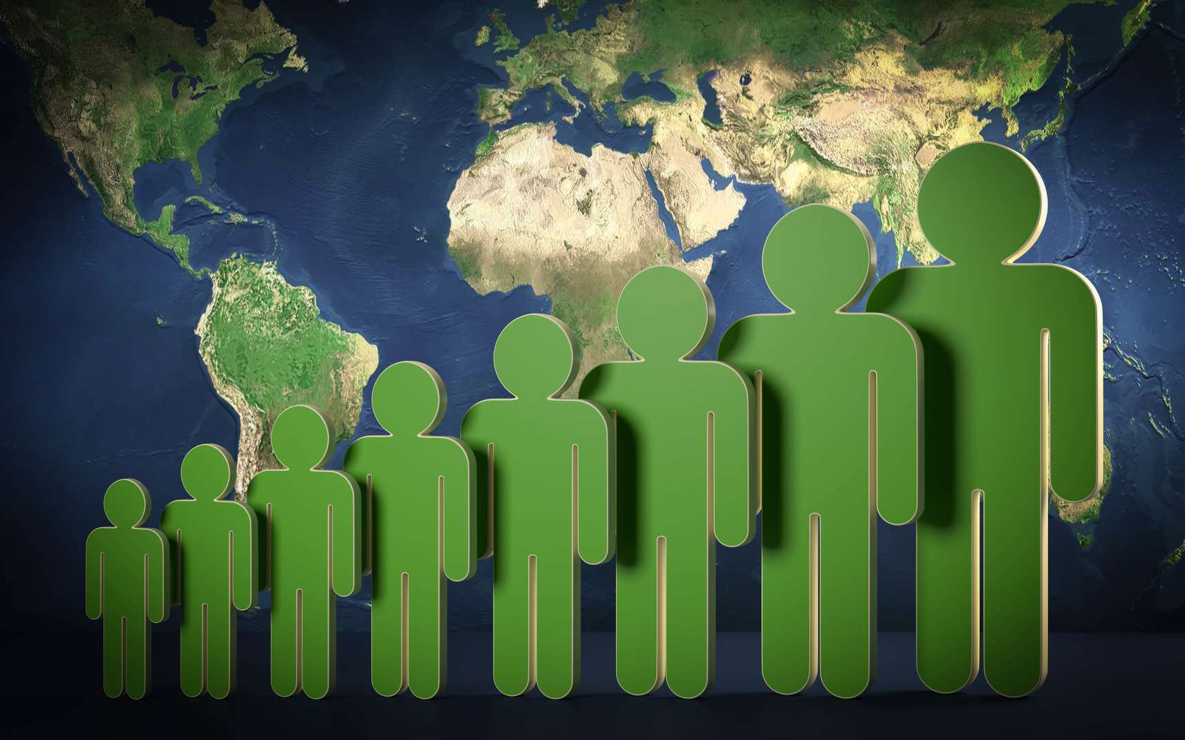 Surpopulation mondiale : 9,5 milliards d'êtres humains sur Terre d'ici 2050. © fotomek, fotolia