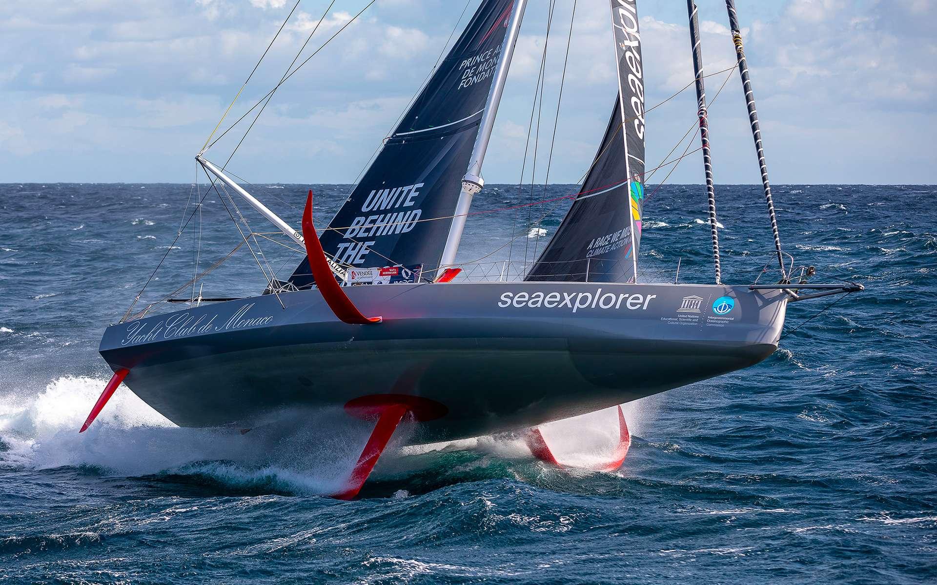 Le monocoque Imoca de Boris Herman Sponsorisé par Seaexplorer - Yacht Club de Monaco. © Jean-Marie Liot