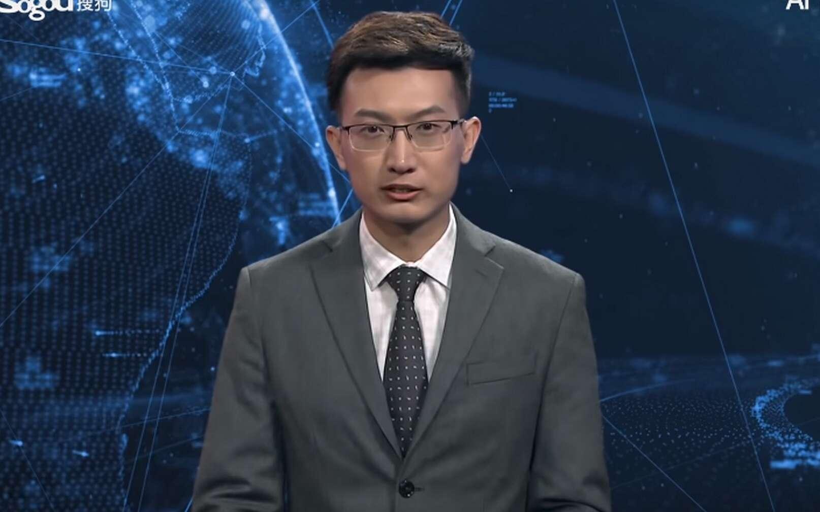 L'IA présentateur de JT pour l'agence chinoise Xinhua. © New China TV
