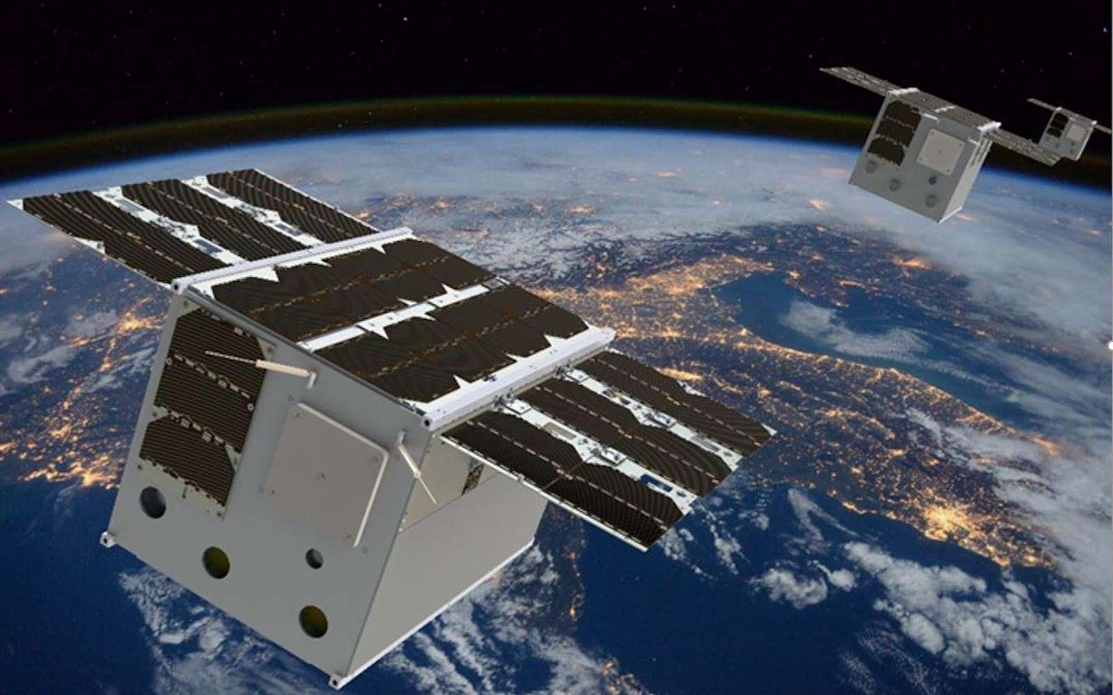 Les mega-constellations de satellites pourraient produire des effets incontrôlés sur le climat. © ESP-MACCS consortium