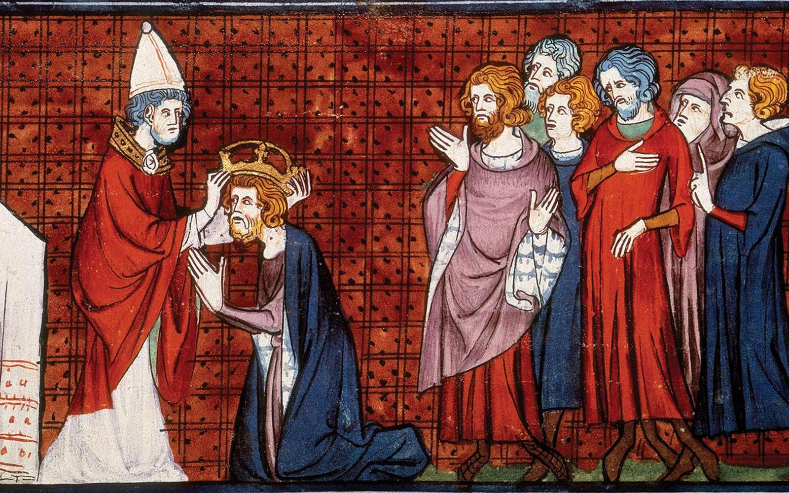 Le pape Léon III fit Charlemagne empereur en l'an 800. © Wikimedia Commons, DP