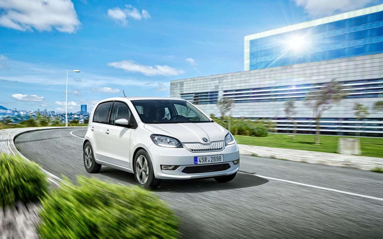 La citadine Skoda reprend les caractéristiques de la e-up ! de Volkswagen. © Skoda