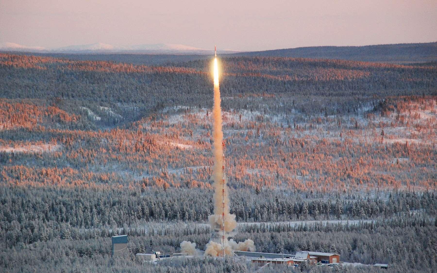 Décollage de la fusée sonde Texus que l'Esa utilise depuis plusieurs années pour réaliser des expériences en gravité ou tester de nouvelles technologies. © DLR/Thilo Kranz