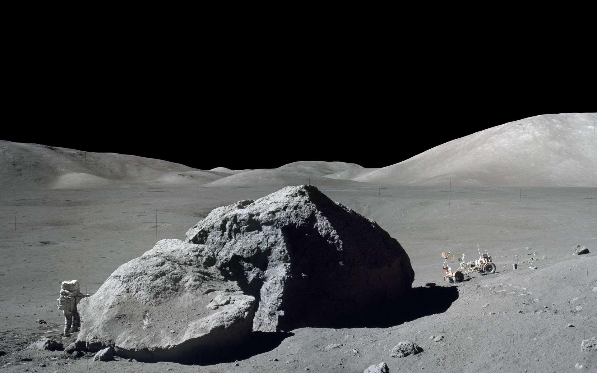 Une vue de la Lune prise lors de la mission Apollo 17 et montrant l'astronaute et géologue Harrison H. Schmitt. © Nasa, Gene Cernan