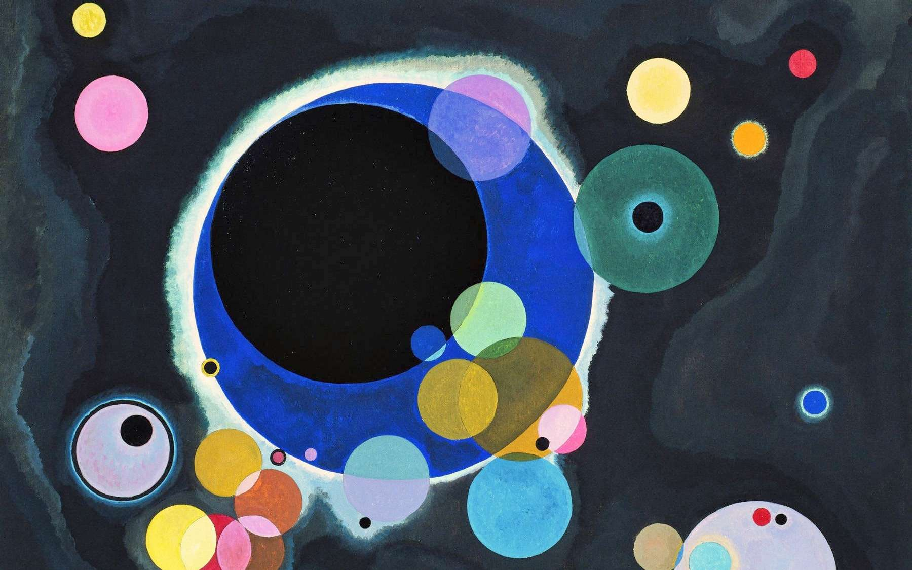 Plusieurs cercles (1926), œuvre de Vassily Kandinsky. © Domaine Public