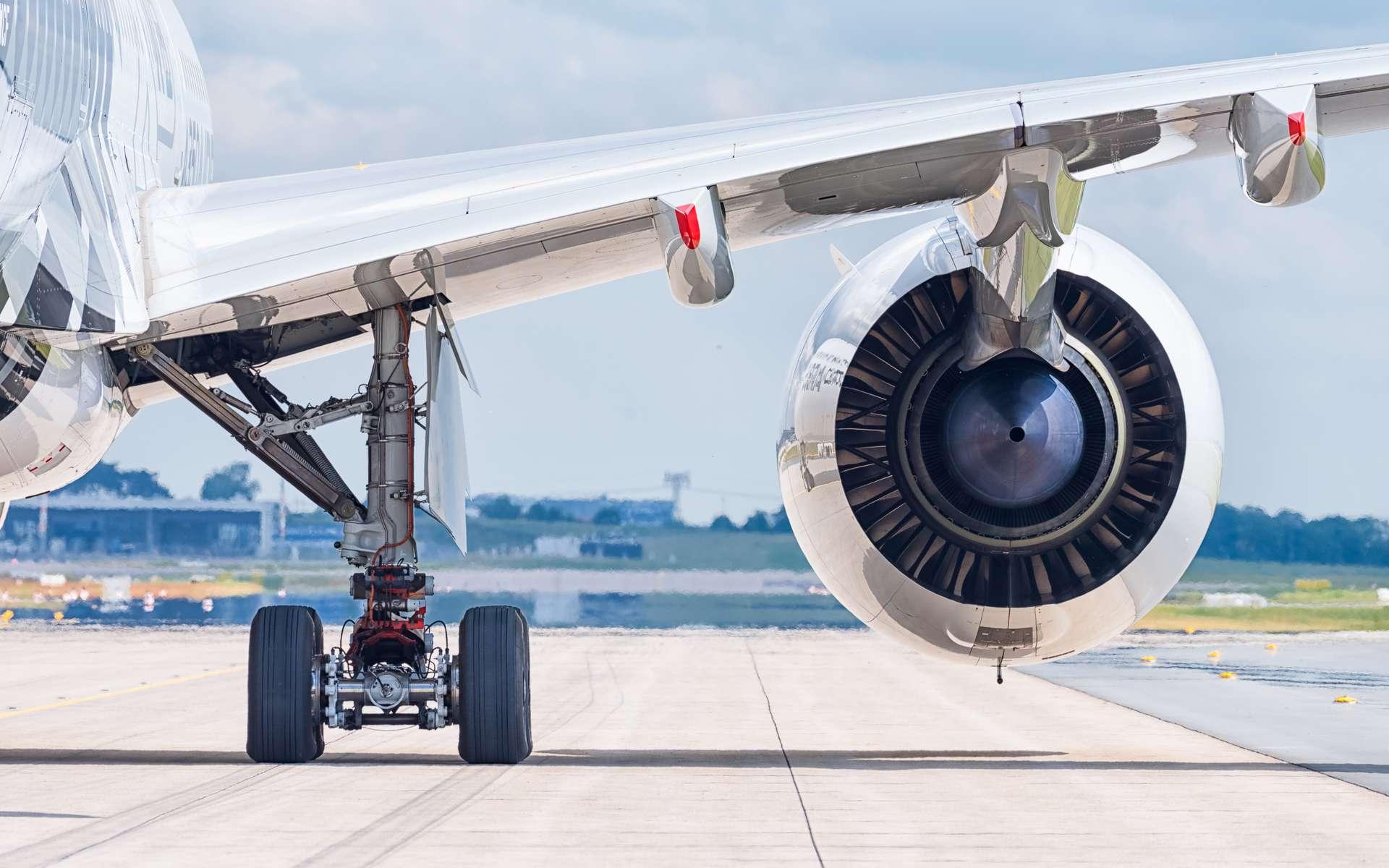 Zoom sur les moteurs de l'Airbus A350. © Julian Herzog, Wikimedia Commons, CC by-sa 4.0