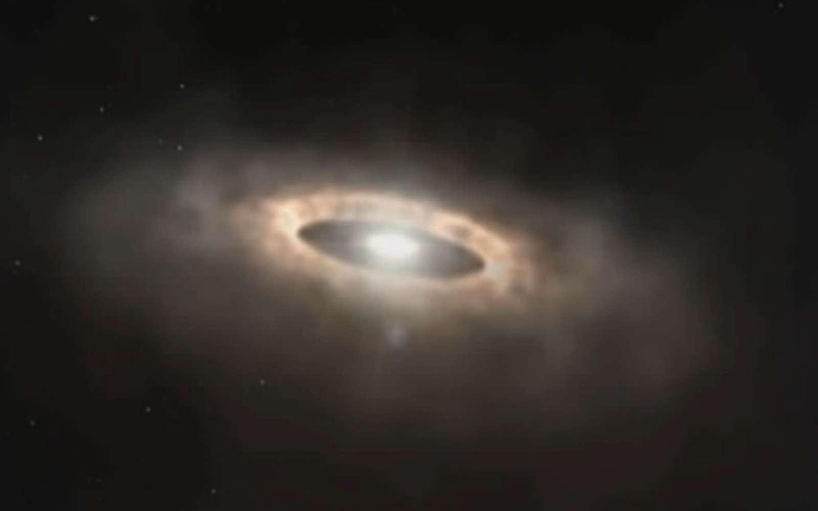 L'instrument s'intéressera aux objets froids émettant principalement des grandes longueurs d'onde comme les disques de poussière où se forment des planètes autour de jeunes étoiles. © Osaka University, Ibaraki University, Alma, ESO