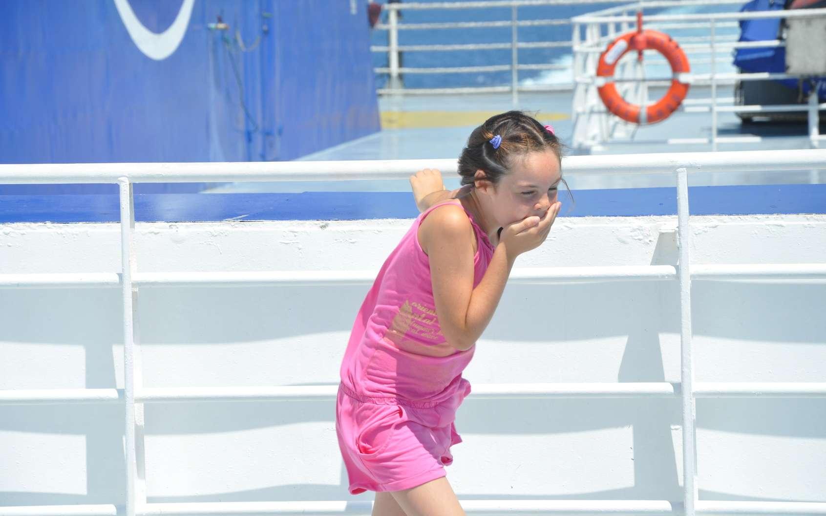 Le mal de mer concerne particulièrement les enfants âgés de 3 à 12 ans. © Claireliot, Fotolia