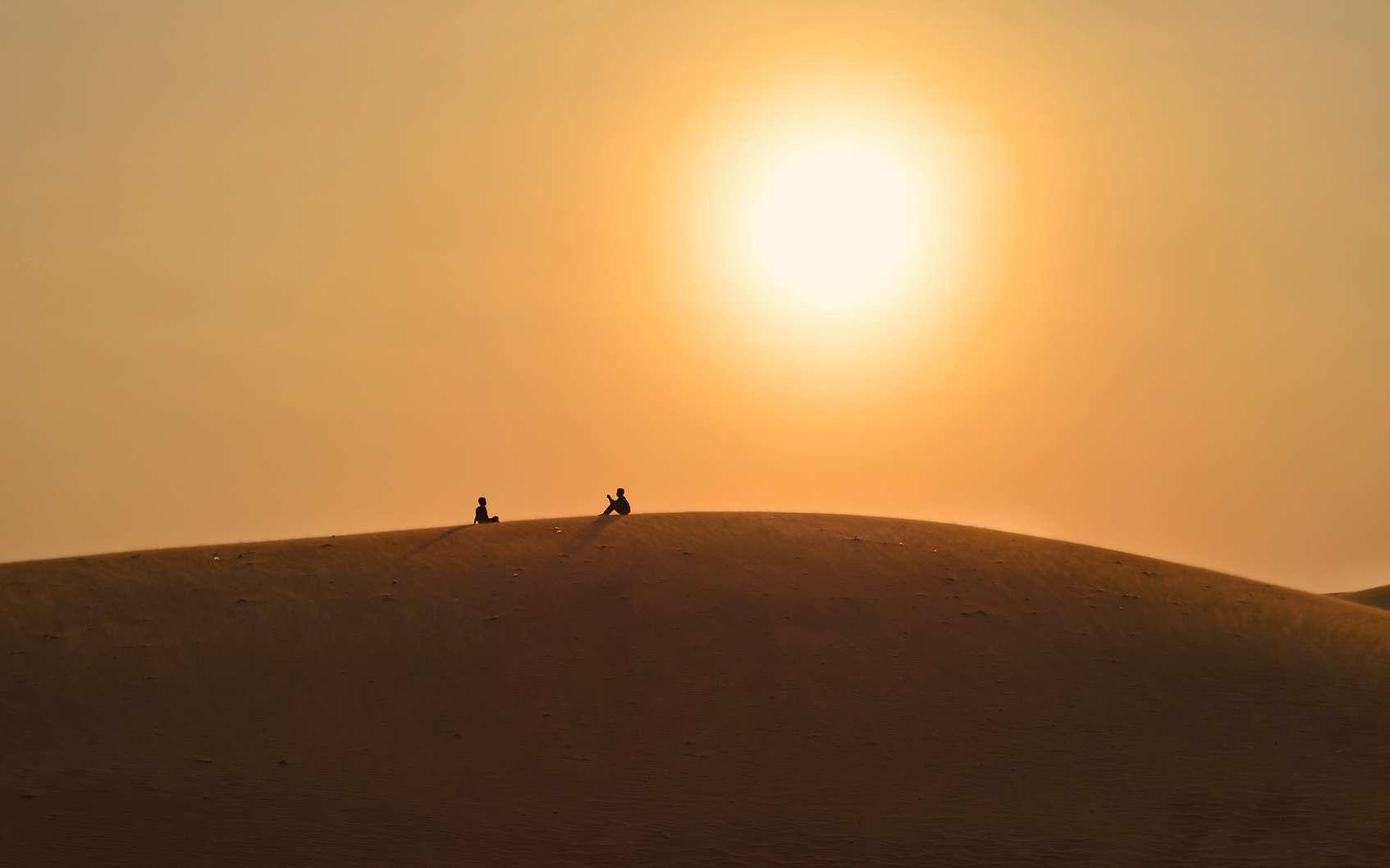Porteurs de la sagesse de plusieurs millions d'années, les jeunes jumeaux Atréides doivent décider du sort de l'Empire. Dans le refuge du désert, ils pensent. ©Alice Nerr, Fotolia