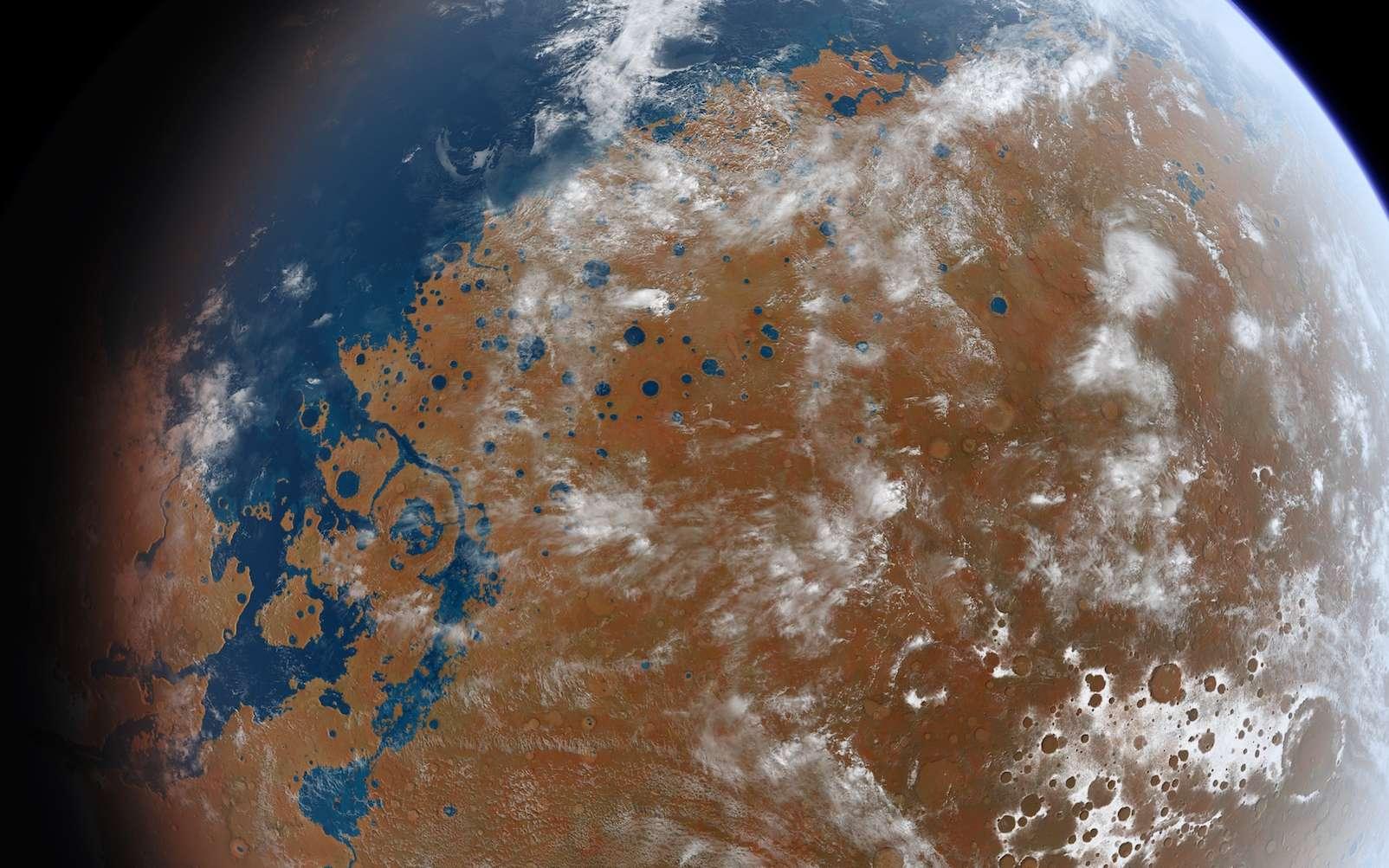Combien de précipitations Mars a-t-elle connues ? © Ittiz, Wikimedia Commons, CC-by-SA 3.0