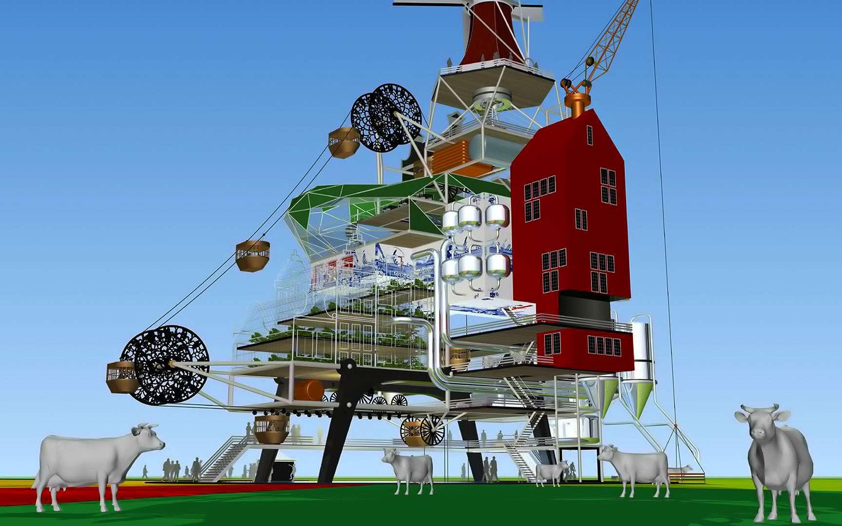 L'Oogst 1000 Wonderland se composerait à la fois d'une ferme, d'un restaurant, d'un hôtel et d'un parc d'attractions, le tout fonctionnant en totale autosuffisance. Oogst signifie « récolte » en néerlandais. Cette installation serait prévue pour recevoir 1.000 personnes par jour, ce qui explique le nom du projet.Tous droits réservés. http://www.tjep.com/studio/works/architecture/oogst-1000