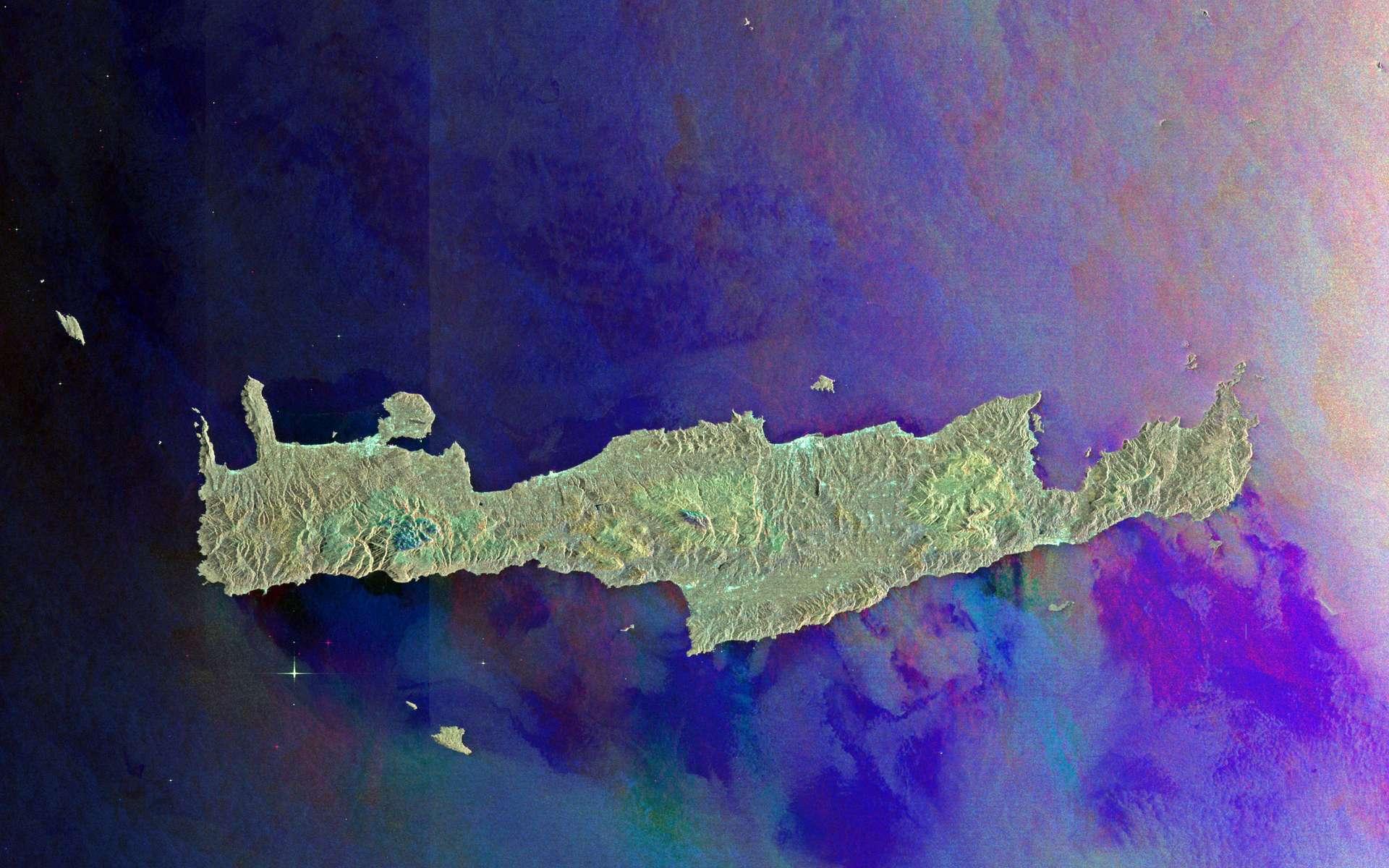 Les îles de la mer Egée photographiées par le satellite Envisat. © ESA