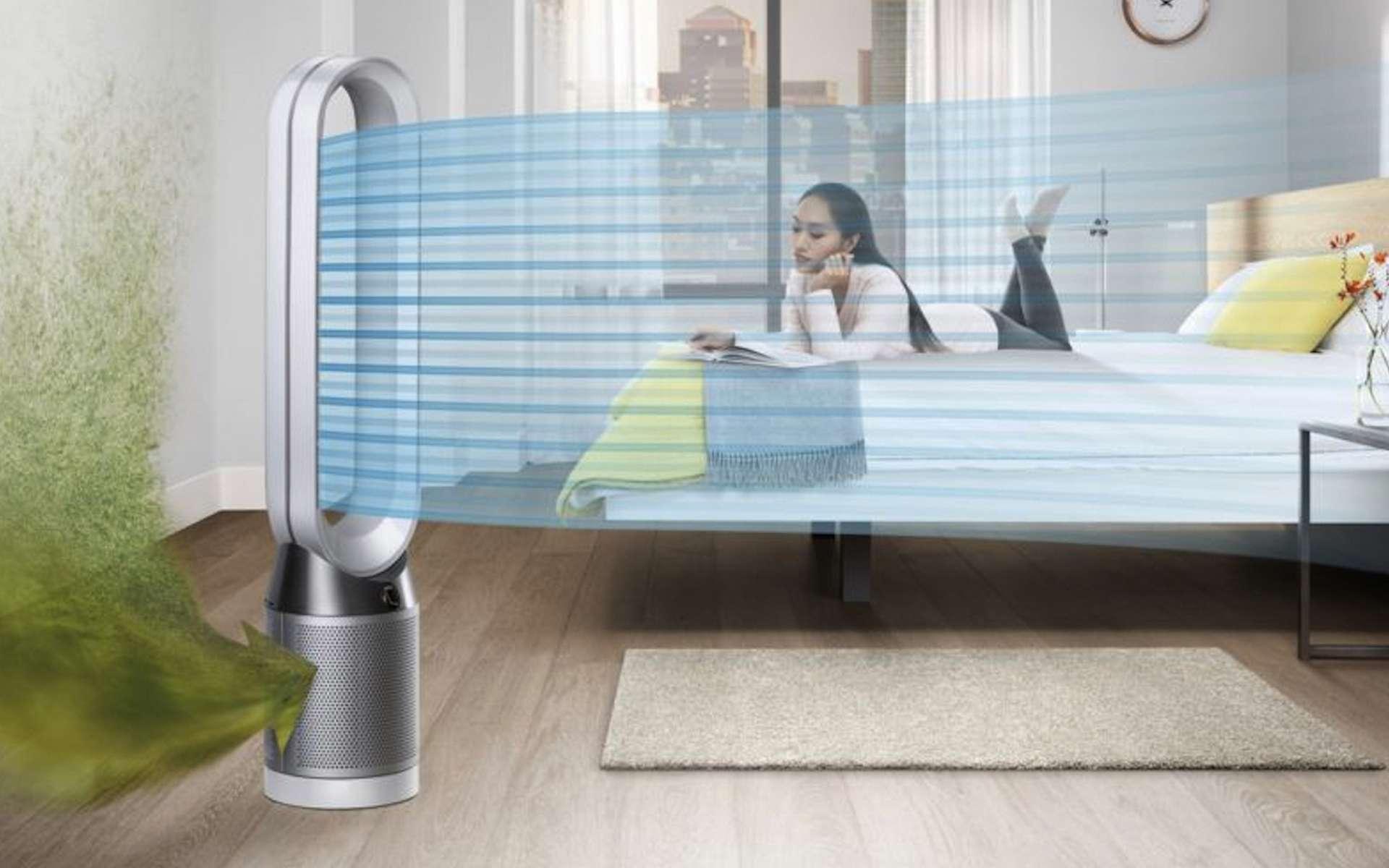 Appareil autonome, le purificateur fonctionne par recyclage de l'air intérieur. © Dyson
