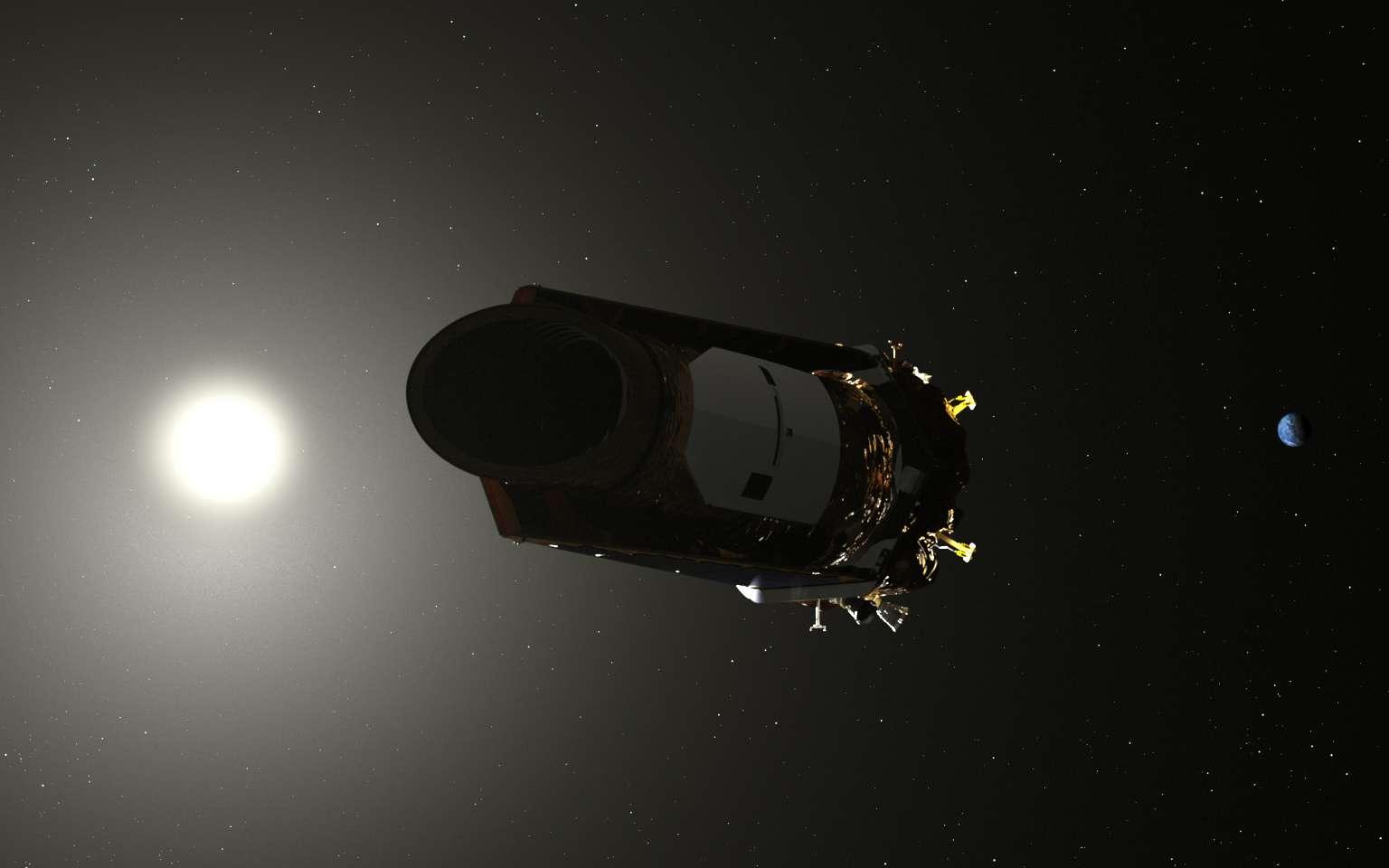 Illustration du satellite Kepler, implacable chasseur d'exoplanètes. © Nasa