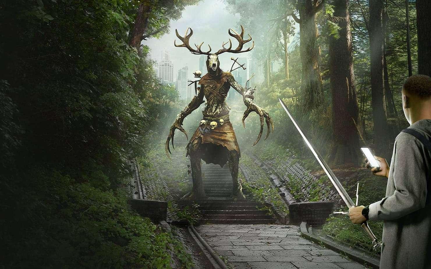 Le nouveau jeu The Witcher: Monster Slayer permettra de chasser des monstres en parcourant le monde réel. © CD Projekt
